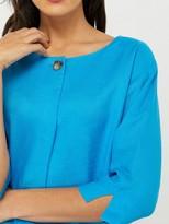 Monsoon Scarlet 100% Linen T-Shirt - Blue