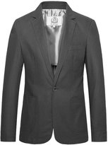 E-artist Men's Slim Fit Casual Linen Blazer Jacket X15 Blue XX-Large