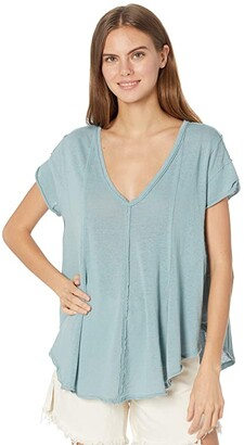 Free People Sammie Tee (Raven Feather) Women's Clothing