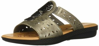Easy Street Shoes Women's June Sandal with Ornament and Cutouts Slide