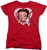 Betty Boop I Love Betty Womens Short Sleeve Shirt XL