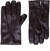 Barneys New York MEN'S LEATHER GLOVES-BROWN SIZE 9.5