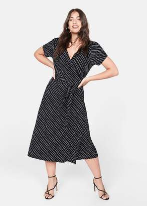 MANGO Print wrap dress