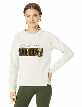 Andrew Marc Women's Pullover Crewneck with Moving Sequins