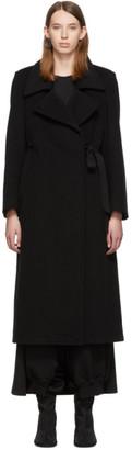 MM6 MAISON MARGIELA Black Techno Wool Coat