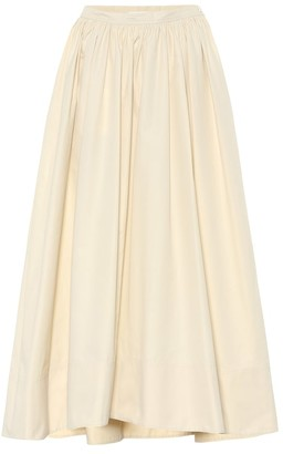 Jil Sander High-rise cotton-poplin maxi skirt