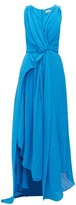 Preen by Thornton Bregazzi Kimberly Asymmetric Plisse-georgette Dress - Womens - Blue