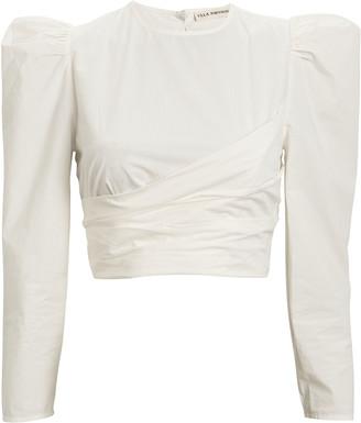Ulla Johnson Eden Cropped Cotton Blouse