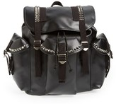 Junya Watanabe Studded Faux Leather Backpack - Black