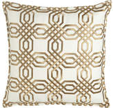 "Isabella Collection Braedon Embroidered Pillow, 19""Sq."