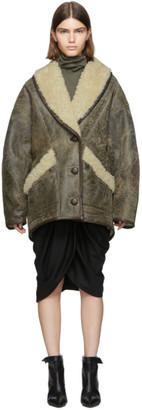 Isabel Marant Brown Shearling Audrina Coat