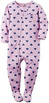 "Carter's Baby Girls' ""Heart of Hearts"" Footed Pajamas"