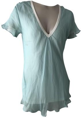 Ungaro Turquoise Silk Tops