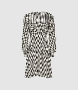 Reiss Edna - Check Printed Fit And Flare Dress in Multi