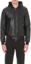 Armani Jeans Hooded Faux-leather Jacket