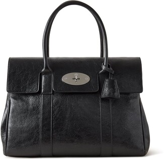 Mulberry Bayswater Black High Shine Calf Leather
