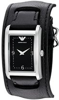 Emporio Armani Women's AR7438 Fashion Black Leather Watch
