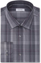 Calvin Klein STEEL Performance Men's Classic-Fit Non-Iron Plaid Dress Shirt