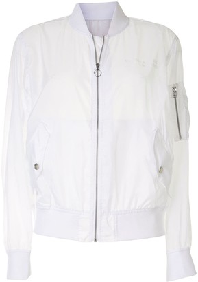Izzue Semi-Sheer Bomber Jacket