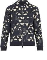 Valentino Camustars-print cotton-blend hooded sweatshirt