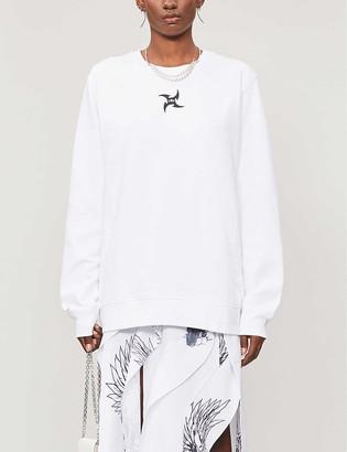 Leo Tarot-print relaxed-fit cotton-blend sweatshirt