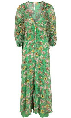 Free People Earthfolk floral-print georgette maxi dress