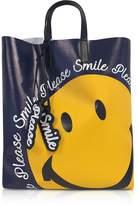 Joshua Sanders Blue Smile Tote Bag