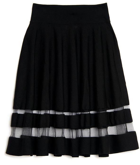 Jason Wu Sheer Stripe Flounce Skirt