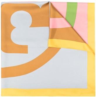 Tory Burch Colour-Block Silk Scarf