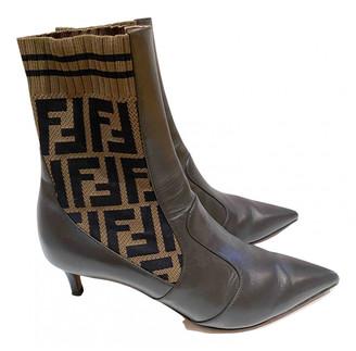 Fendi Colibri Brown Leather Boots