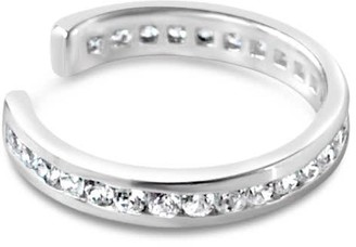 Glamrocks Jewelry Pave Ear Cuff- Silver