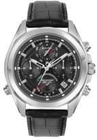 Bulova Precisionist Round Leather Strap Watch