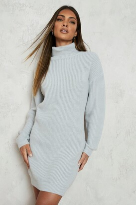 boohoo Roll Neck Fisherman Jumper Dress