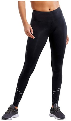 Craft Lumen Urban Run Tights (Black/Silver) Women's Casual Pants