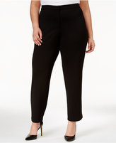 Alfani Plus Size Tapered Straight-Leg Pants, Only at Macy's