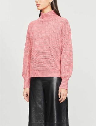Whistles Moss textured-knit cotton and wool-blend jumper