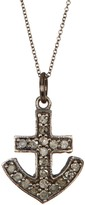 ADORNIA Champagne Diamond Anchor Pendant Necklace - 0.30 ctw