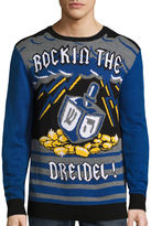 NOVELTY SEASON Novelty Season Rockin The Dreidel Cotton Blend Pullover Sweater