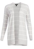 Saks Fifth Avenue Striped Featherweight Cashmere Cardigan