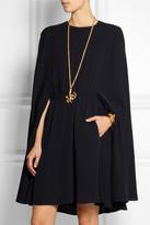 Valentino Cape-style silk-crepe mini dress