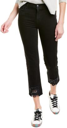 J Brand Ruby Fleur Noir High-Rise Crop Cigarette Leg