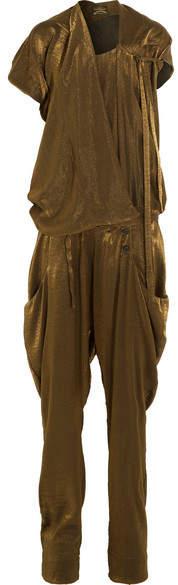 Vivienne Westwood Latifa Draped Lurex Jumpsuit - Gold