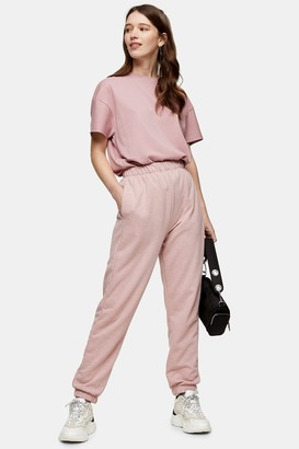 Topshop Womens Pink Slim Joggers - Pink