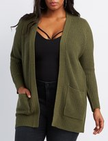 Charlotte Russe Plus Size Shaker Stitch Boyfriend Cardigan