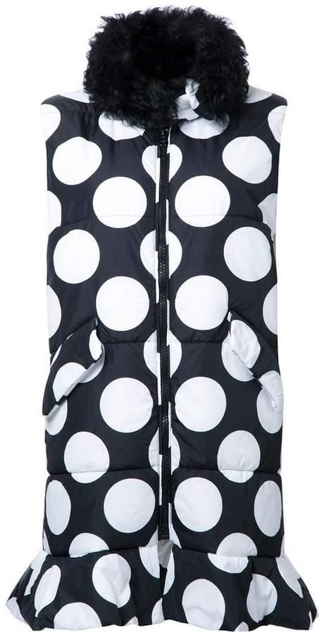 MSGM dotted long waistcoat