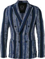 T Jacket - vertical stripe blazer - men - Cotton/Polyamide/Polyester/Spandex/Elastane - S
