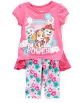 Children's Apparel Network PAW Patrol Pink Nick Top & Pants - Toddler
