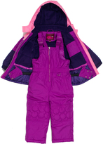 Pink Platinum Plum Circle Quilted Better Snowsuit - Girls