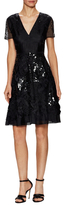 Prabal Gurung Silk Sequin Embroidered Flared Dress