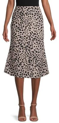 Avantlook Leopard-Print Skirt